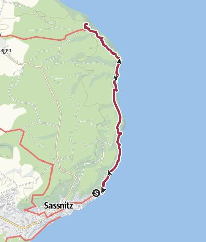 Map / Hochuferweg Sassnitz Königsstuhl und zurück