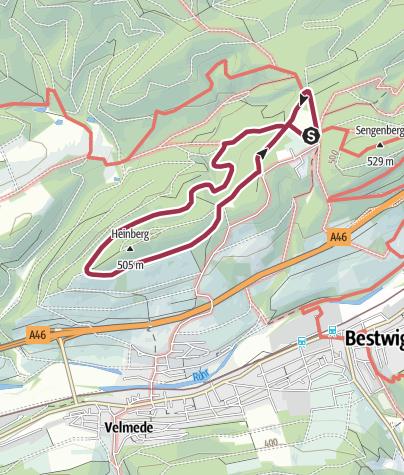 Karte / Föckinghausen - oberer Rundweg