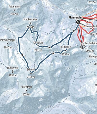 Karte / Planneralm 4Gipfeltour