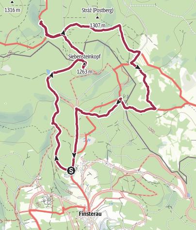 Karte / Siebensteinkopf und Moldauquelle