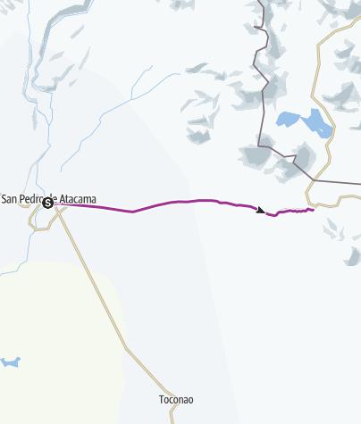 Atacama Wüste Karte.San Pedro De Atacama Paso De Jama Radtour Outdooractive Com