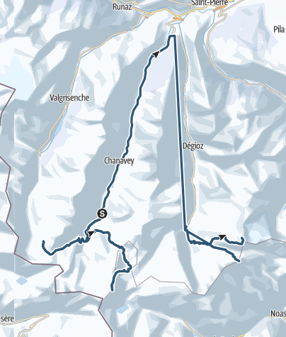 Karte / Im Banne des Gran Paradiso