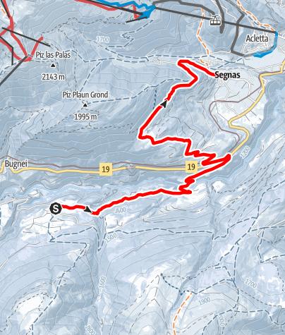 Map / Sedrun - Segnas
