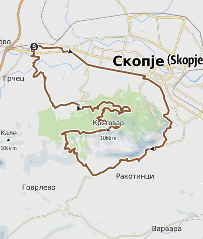 Map / Соње - Крст - Крушопек