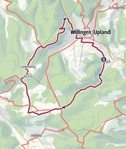 Karte / Über die Höhen der Willinger Wanderwelt