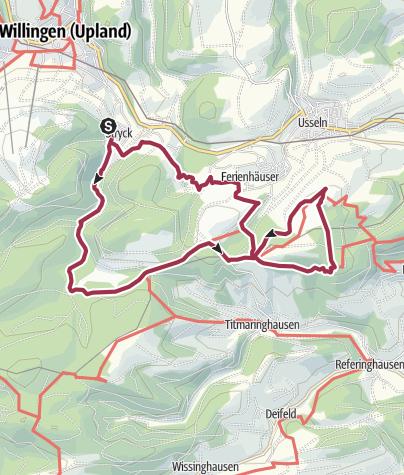 Karte / Pön Wanderung zur Graf Stollberg Hütte