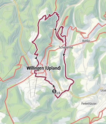 Karte / Wandergebiet Hohe Eimberg und Schwaleburg