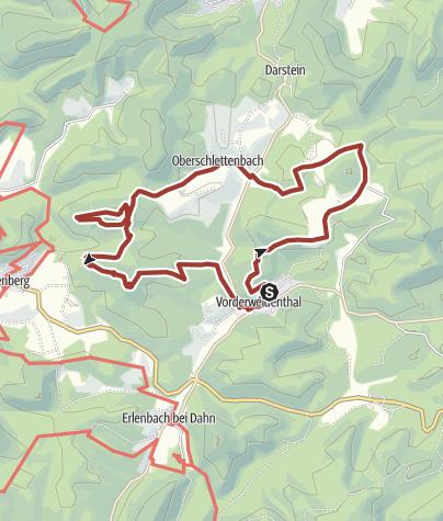 Karte / Rotsandsteinweg lange Tour