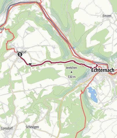Karte / Von Berdorf nach Echternach durch die Wolfsschlucht