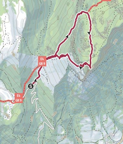 Karte / FRA - Wanderung - Dent de Crolles