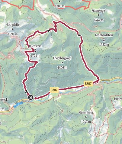 Map / Tegernsee hütte loop