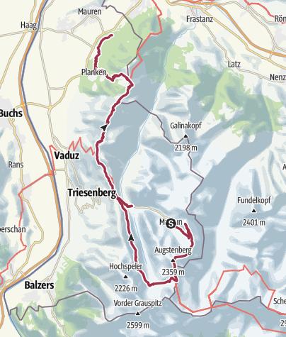Map / GOA CH: Liechtenstein Panorama Trail - 35.9Km