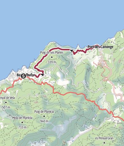 Karte / 2017Mallorca 1: Sa Baronia in Banyalbufar - Port deS Canonge