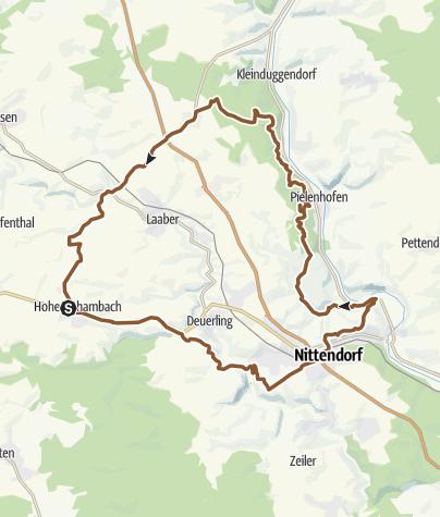 Karte / Osterstube und Osterstein über Räuberhöhle