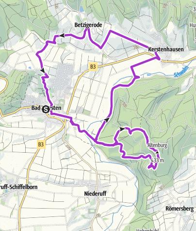 Karte / Bad Zwesten - Running