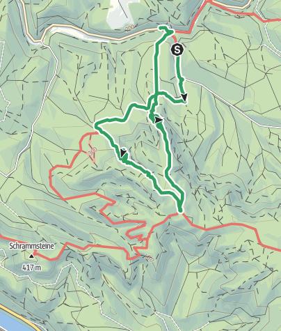 Karte / Häntzschelstiege Abstieg über die Wilde Hölle