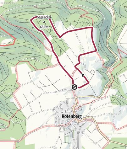 Karte / Rö 2: Altenberger Rundwanderweg