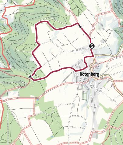 Karte / Rö 8: Bacher Rundwanderung