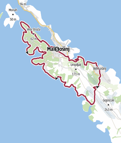 Map / Lošinj beaches