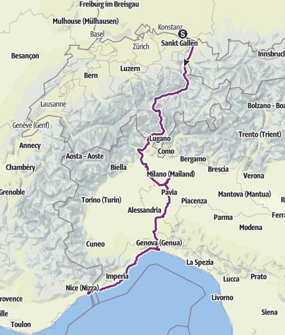 Karte / Vom See zum Meer