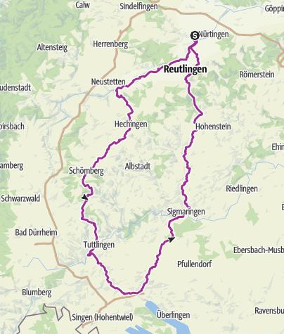 Karte / Radtour-Grötzingen-Hohenzollern-Bodensee-Sigmaringen-Gammertingen-Grötzingen_02 n