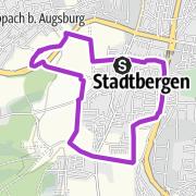 Karte / Rund um Stadtbergen mit toller Aussicht