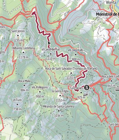 Mapa / Naturpark Montserrat