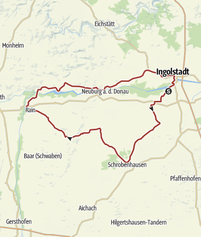 Karte / 24. April 2017 Rollertour nach Rennertshofen