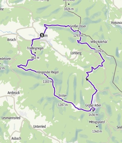 Karte / Ultra Trail Lamer Winkel, 2016, 52km, 2300HM