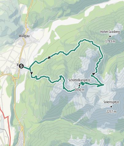 Map / Schöttelkarspitze (2049m) and Soiernhaus