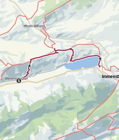 Karte / Über die Thaler Höhe zum Alpsee