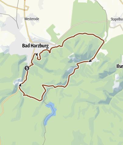 Karte / Bad Harzburg - Molkenhaus - Radauwasserfall
