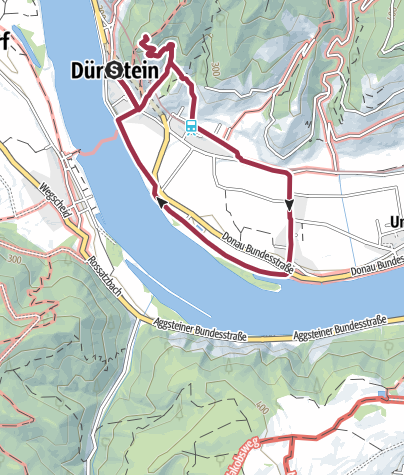 Térkép / 5km Durnstein Castle Oberloiben loop BOURNE