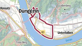地图 / 5km Durnstein Castle Oberloiben loop BOURNE