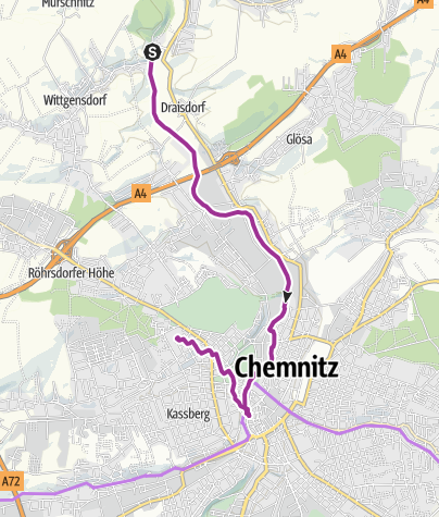 Karte Chemnitz Und Umgebung.Radweg Chemnitz Radtour Outdooractive Com