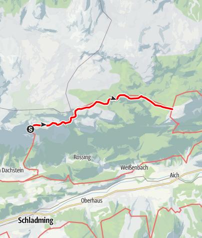 Karte / Dachstein Rundwanderweg 4. Etappe
