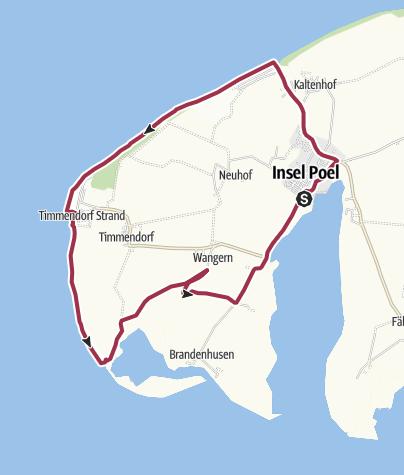 Karte Insel Poel Und Umgebung.Rundtour Auf Der Insel Poel Wanderung Outdooractive Com