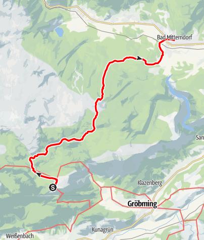Karte / Dachstein Rundwanderweg 5. Etappe