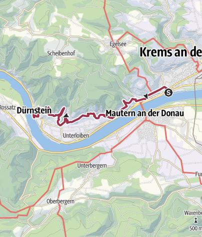 Karte / Krems Yachthafen - Dürnstein