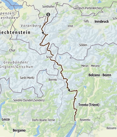 Map / First Draft Transalpina Güan&Kirk