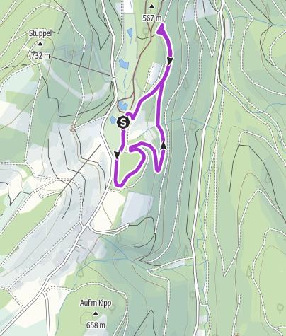 Karte / FORT FUN Westernlauf - Laufstrecke