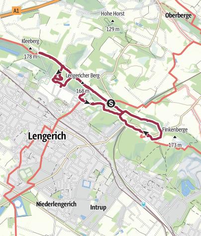 Karte / 6. Tour - Intruper Berg Teil 1