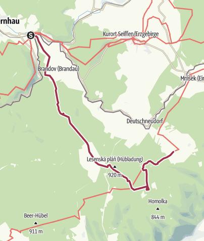 """Karte / Sonntagswanderung """"Drei Steine und ein Felsen"""" 14.05.2017 , Brandov"""