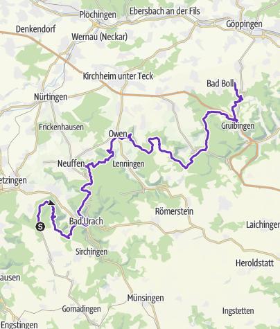 Karte / Tourenplanung am 28. Mai 2017