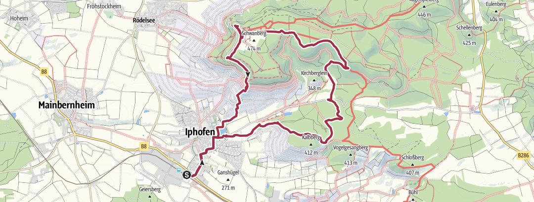 Cartina / Wanderung zu Kalbberg und Schwanberg