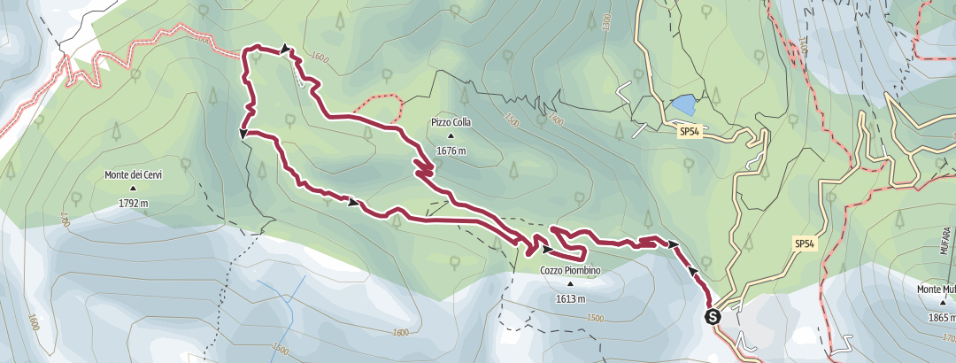 Map / Sicilia - PA - Madonie - Portella Colla ring
