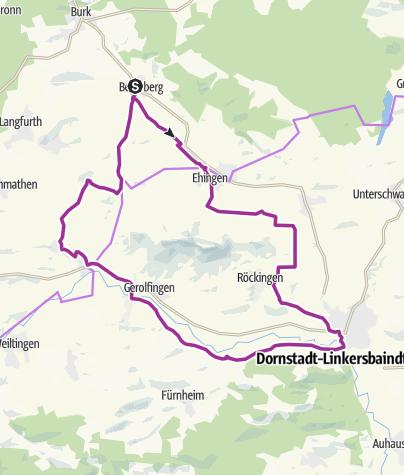 Karte / Rund um den Hesselberg