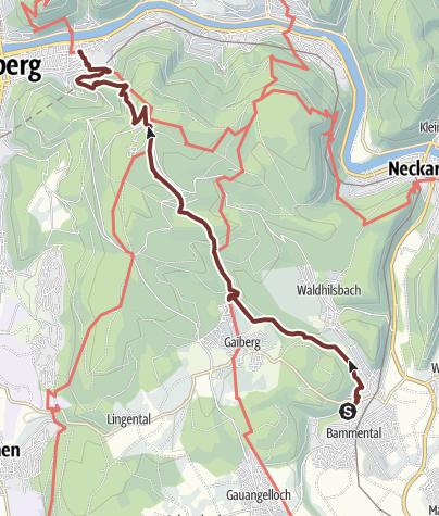 Map / Pilger.Schön 1 _ E5: Bammental - Heidelberg