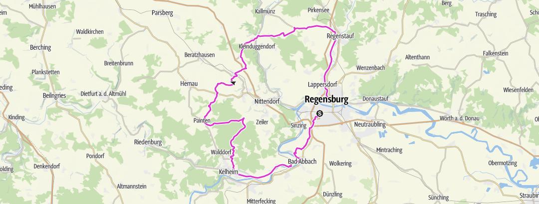 מפה / Feierabendrunde 4-Täler Tour 100km