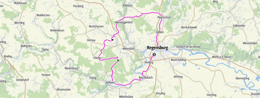 Mapa / Feierabendrunde 4-Täler Tour 100km